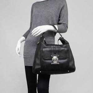 GUCCI Black G Coin Hobo Bag